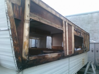 Extensive dry rot damage in this trailer show the importance of preventive maintenance and timely repairs.