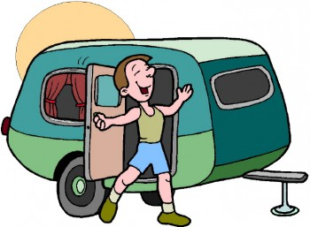 travel trailer RVer cartoon