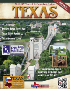 Texas Camping Guide cover 2013