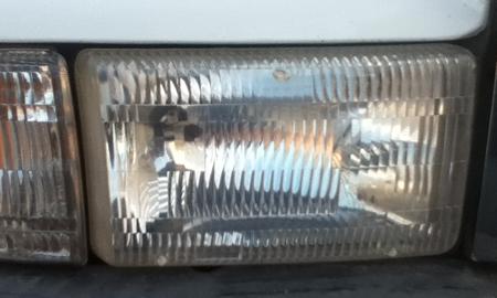 Headlamp Lens After Restoration