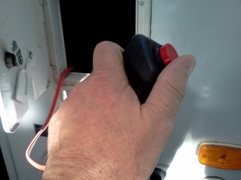 Power switch for the macerator pump.