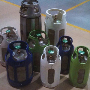 Fiber composite cylinders made by The Lite Cylinder Company