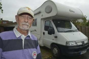 Mervyn Bryant, gassed and robbed while asleep in his motorhome.