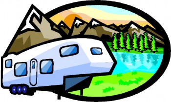 mountain camping fifth wheel cartoon