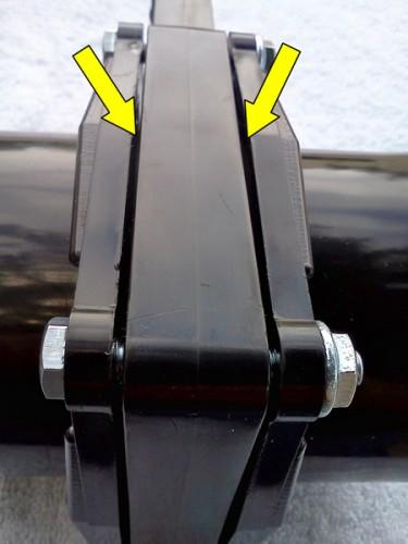 RV dump valve flange gap