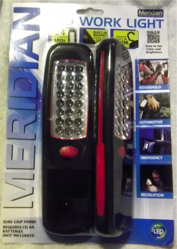 Meridian LED work light 2-pack from Walmart
