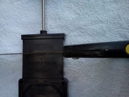Where to cut a broken RV waste valve