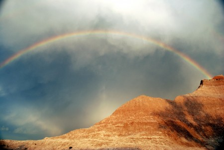 Rainbow of Badlands National park