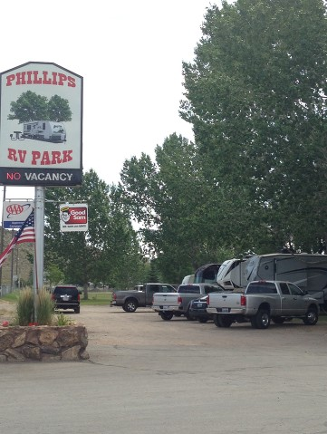 Phillips RV Park Sign