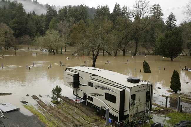 California RV Parks & Campgrounds Affected by Local Flooding – High Winds