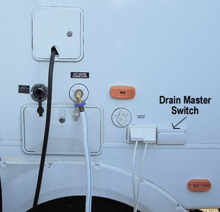 Drain Master Electric Waste Valve switch