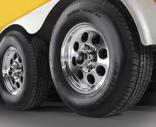 Elegant  Silver Mod Steel Trailer Wheel Camper Rv Dump Trailer Utility  EBay